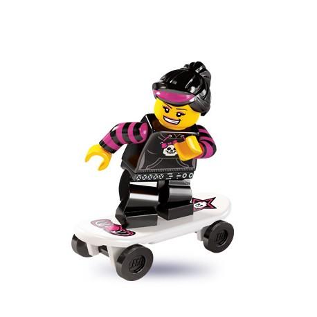 """LEGO MINIFIGURE - 6ª Série """"Skater Girl"""""""
