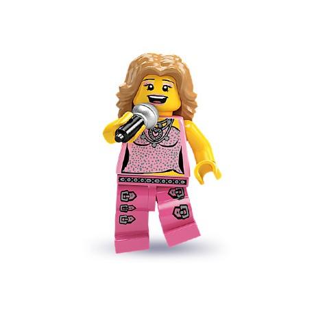 "LEGO MINIFIGURE - 2ª Série ""Cantora"""