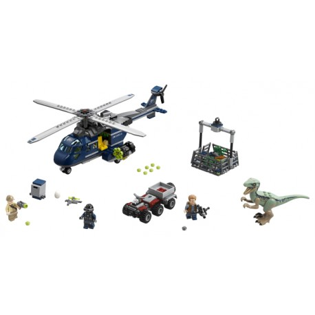 LEGO Jurassic World - Blue's Helicopter Pursuit (397pcs) 2018