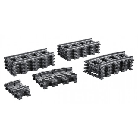 LEGO City - Trilhos Comboio (8xRetas;4xCurvas;8xFlexi)