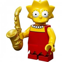 "LEGO MINIFIGURE - Simpsons 1ª Série - ""Lisa Simpson"""