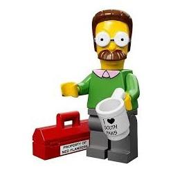"LEGO MINIFIGURE - Simpsons 1ª Série - ""Ned Flanders"""