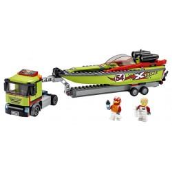 LEGO City - Transportador de Barcos de Corrida (238pcs) 2020