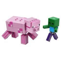 LEGO Minecraft - BigFig Porco com Bebé Zombie (159pcs) 2020