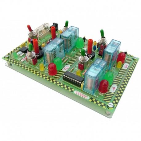 Módulo Experiências com relé electromecânico - EDU-010