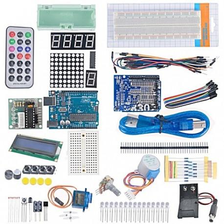KIT de Iniciação c/Arduino UNOR3 c/Breadboard 830+Comp. - KIT0001