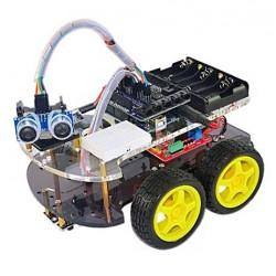 KIT de Robô c/alimentação+motores+sensores p/Arduino - RT0002