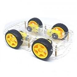 KIT Chassi de Carro W4 c/Encoders e 4 motores p/Funduino - RT9001