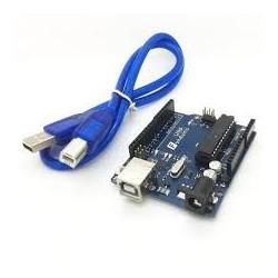 Placa Arduíno UNO R3 ATMEGA328 c/Cabo USB - UNO.R3