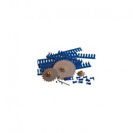 Rodas dentadas plásticas + 67cm de cadeia articulada - C6081