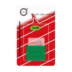 "Breadboard mini c/170 contactos - Verde ""EIC-15010"""