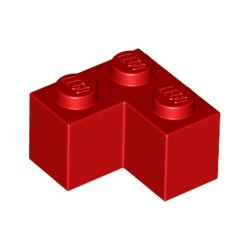 LEGO Peça - Brick Corner 1x2x2 (Red) 1987