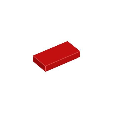 LEGO Peça - Flat tile 1x2 (Red) 1973