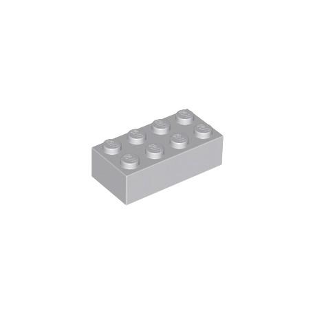 LEGO Peça - Brick 2x4 (Light Bluish Gray) 1978