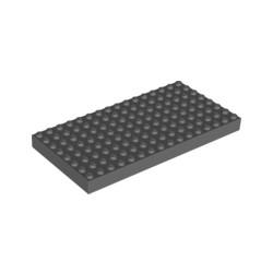 LEGO Peça - Brick 16x8 (Dark Bluish Gray) 1981