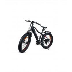 Bicicleta XL, Tipo BTT Preta, Elétrica c/luz, 5+7 velocidades, Lítio 36V, 120Kg Max.