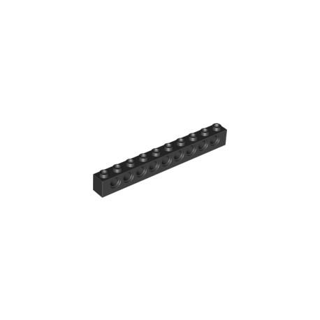 LEGO Peça - Brick Technic 1x10 c/furos 4,9mm (Black) 1990
