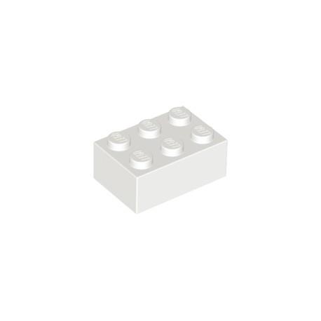 LEGO Peça - Brick 2x3 (White) 1980