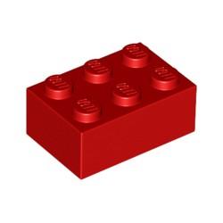 LEGO Peça - Brick 2x3 Bright Red - 1993