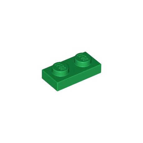 LEGO Peça - Plate 1x2 (Dark Green) 1994