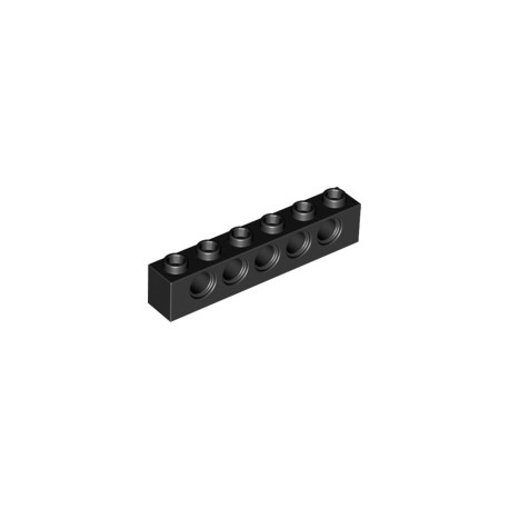 LEGO Peça - Brick technic 1x6 c/furos 4,9mm (Black) 1978