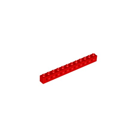 LEGO Peça - Brick technic 1x12 c/furos 4,9mm (Red) 1979