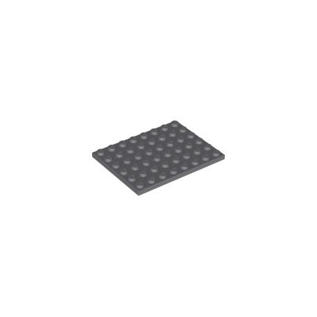 LEGO Peça - Plate 6x8 (Dark Bluish Gray) 1958
