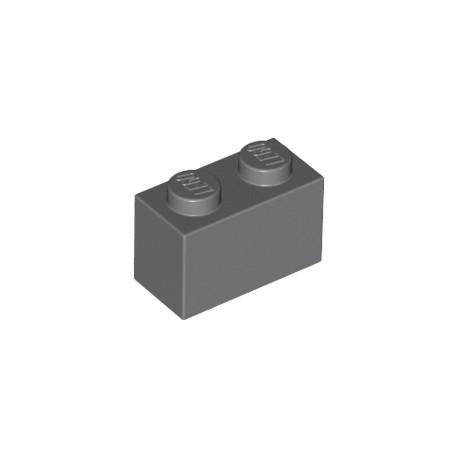 LEGO Peça - Brick 1x2 (Darck Bluich Gray) 2001