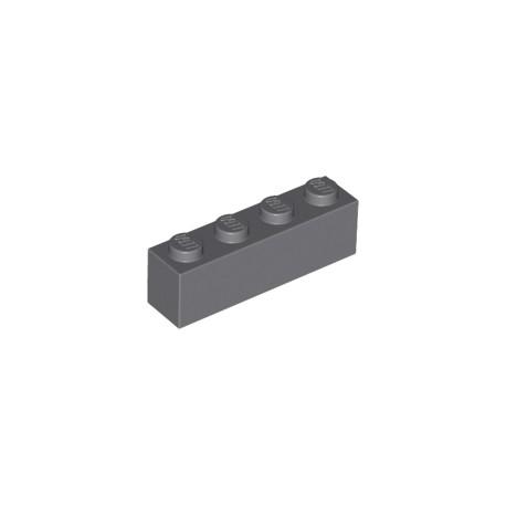 LEGO Peça - Brick 1X4 (Dark Bluish Gray) 1964