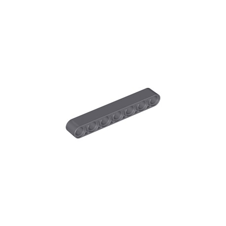 LEGO Peça - Beam 7M - (cinza escuro)