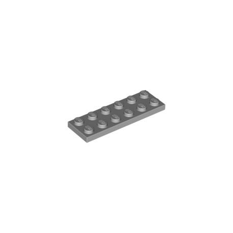LEGO Peça - Plate 2x6 (Medium stone Grey) 2001