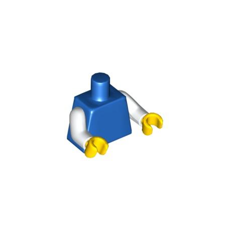 LEGO Peça - Mini figure - shirt - (azul+branco)