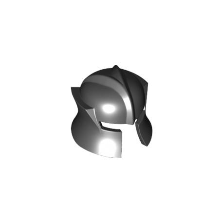 LEGO Peça - Helmet Castle with Cheek Protection Angled - (preto)