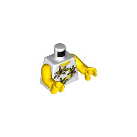 LEGO Peça - Mini figure - t shirt wihte (praia)
