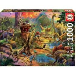 PUZZLE 1000 pçs - Terra dos Dinossauros (EDUCA)