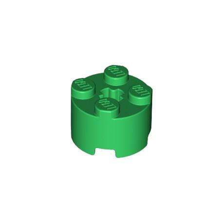 LEGO Peça - Round Brick 2x2 w. Cross (Bright Green) 2004