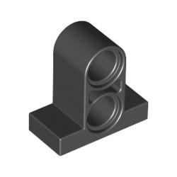 LEGO Peça - Technic - T-Beam w. Plate 1x2 w. Tube (Black) 2001