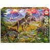 PUZZLE 500 pçs - Encontro de Dinossauros