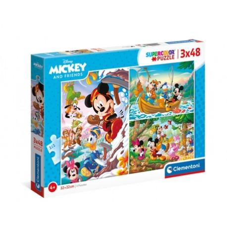 PUZZLE INFANTIL - Mickey e Amigos (3x48pcs)