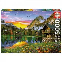PUZZLE 5000 pçs - Lago Alpino